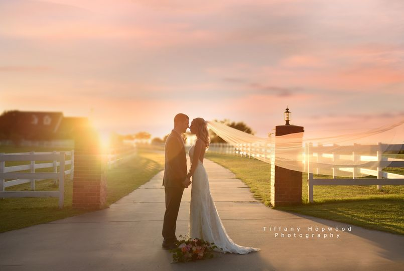 Beautiful sunset wedding