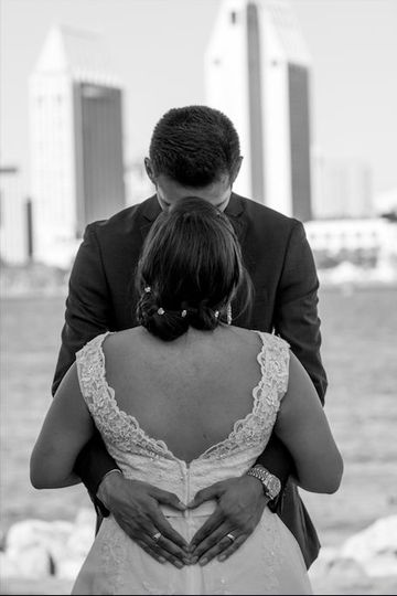 Newly weds enjoying their intimate portrait session after the ceremony