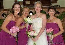 Each Bridesmaid carried a different bouquet