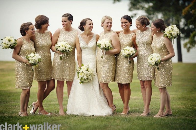 Smiles from the bride and bridesmaids