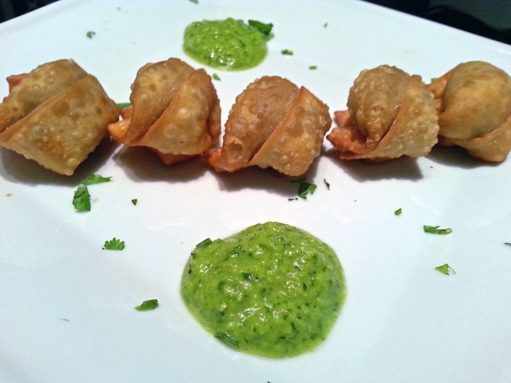 Pork Wontons with Chimichurri