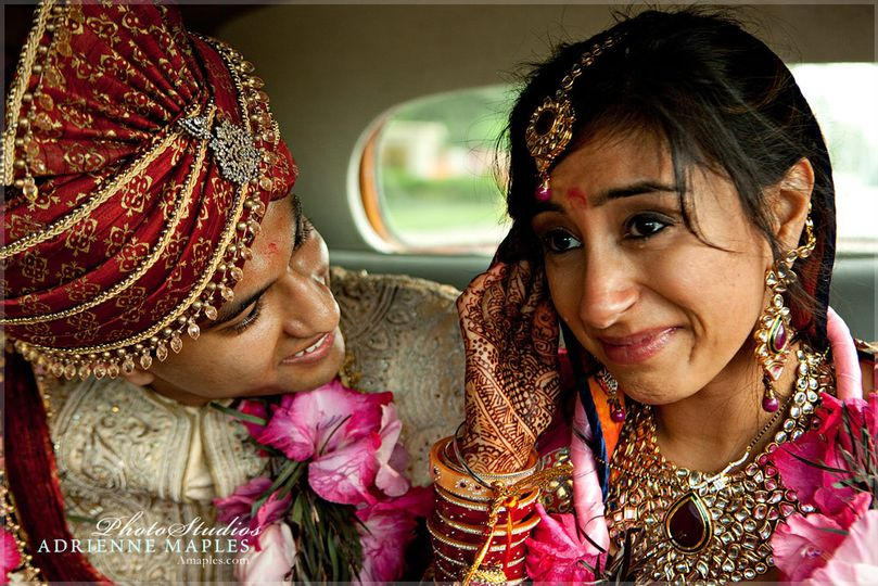 adrienne maples emotional wedding hindu bride comf