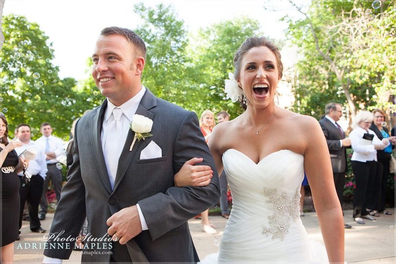 800x800 1420658533514 adrienne maples happy wedding day bride groom exit