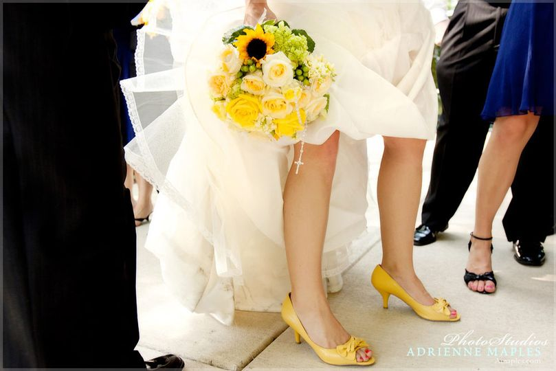 adrienne maples wedding details bright yellow flow