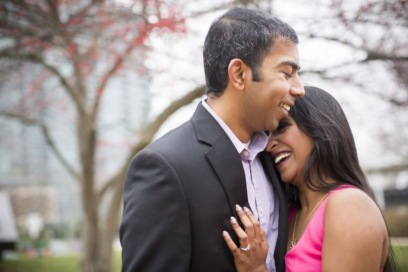 Cynthea + Sylvester's engagement at Scioto Mile