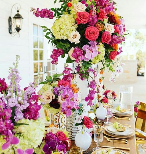 Summer Orchid Tablescape
