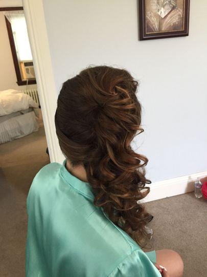 Wedding side hair
