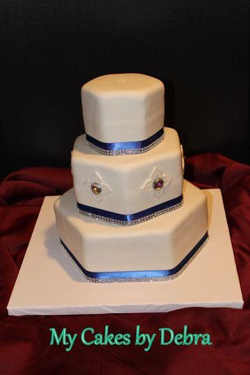 My Cakes By Debra Wedding Cake Pascagoula Ms Weddingwire
