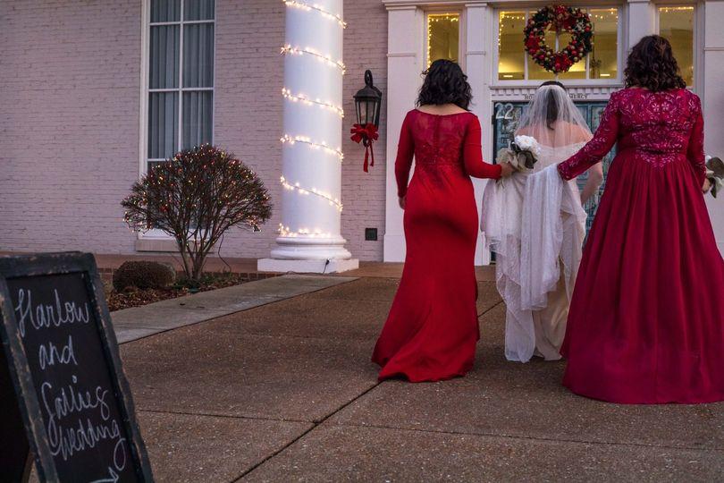 Bridal Party Sunset Wedding