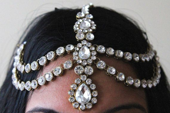 Tmx 1490236795489 Handmade Kundan Stones Hair Chain Grecian Style He Portland wedding dress