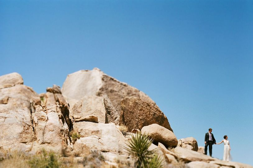 A springtime Joshua Tree wedding at Rim Rock Ranch.