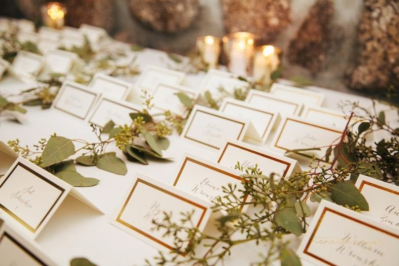 Place-cards set-up