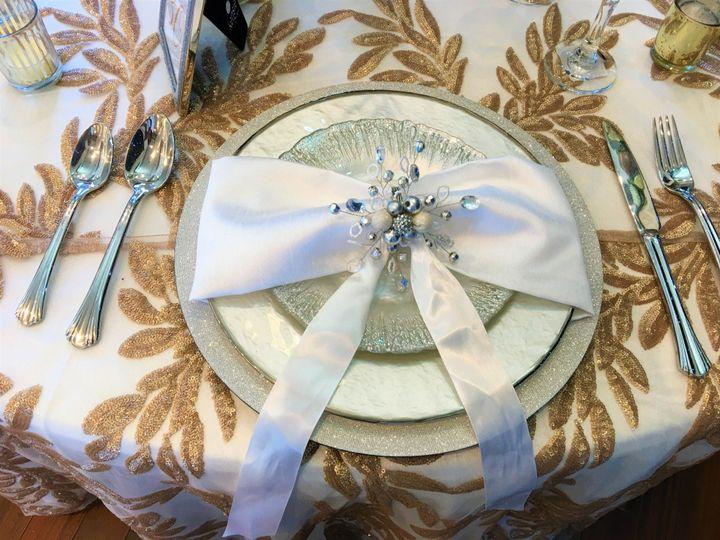 Silk napkin decor