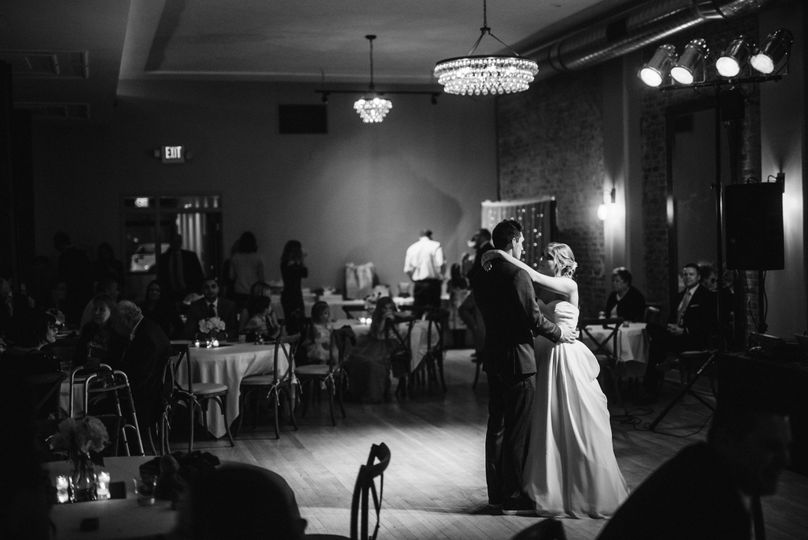 Montvale Hall accommodates all seating for your guests, with room for a dance floor.