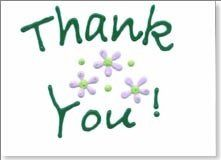 Hand Decorated Thank you Note Card - Co-ordinates with Bouquet Invitation.