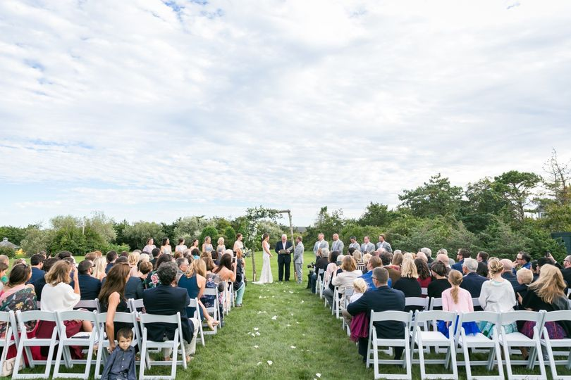 Ceremony on our West Lawn