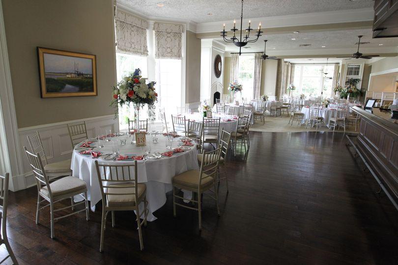 Spacious banquet area