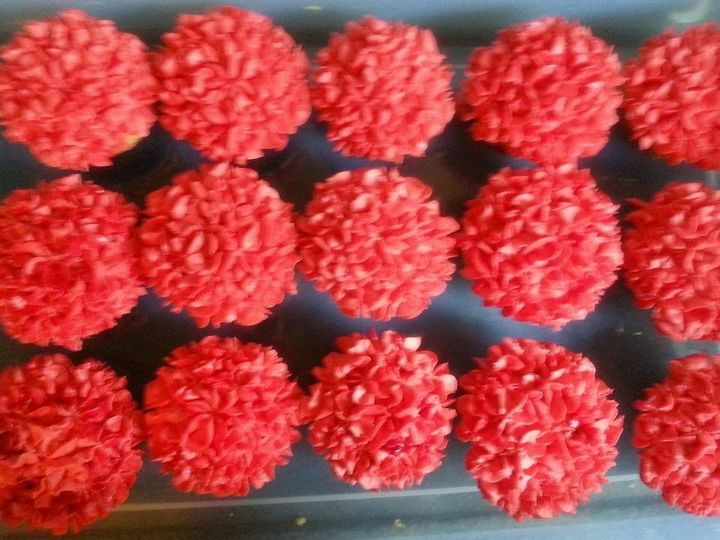 fluorescent hydrangea cupcakes