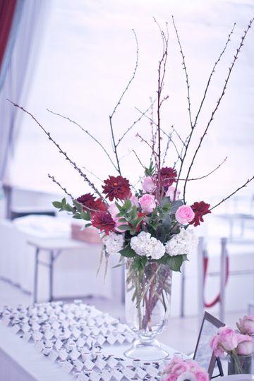 Place card florals