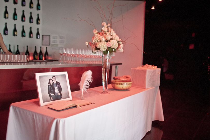 Greeting guest-book table
