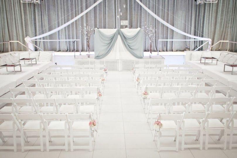 Ceremony - white, grey & pink