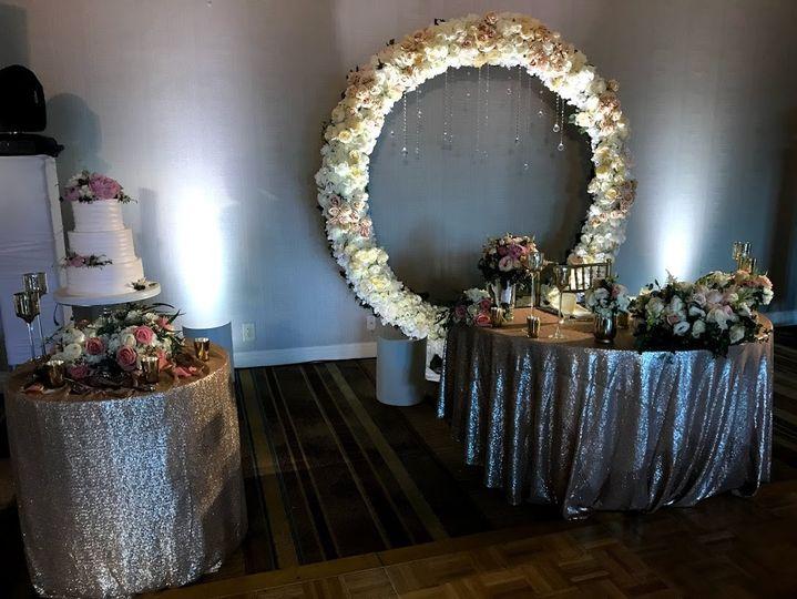Gold accent bridal theme