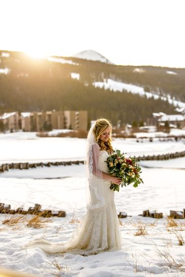 Winter Wedding Copper Mountain Sunset