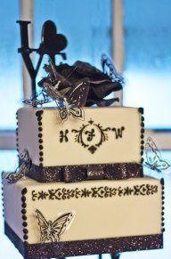 Tmx 1343163206280 Blackandwhitebutterfly Clermont wedding cake