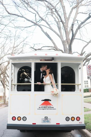 Kiss on the trolley