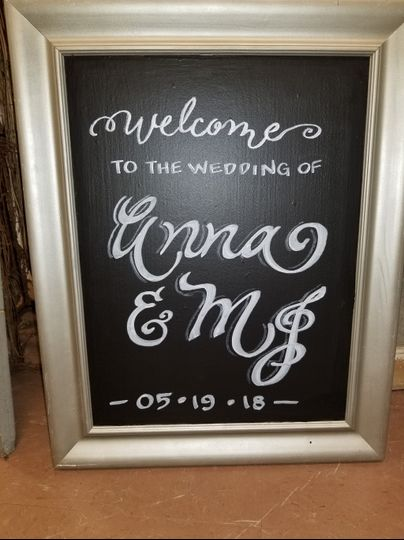 Chalkboard Welcome Sign