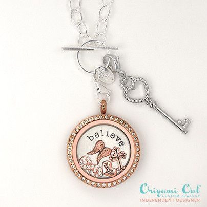 mixed metal living locket with silver and rose gol