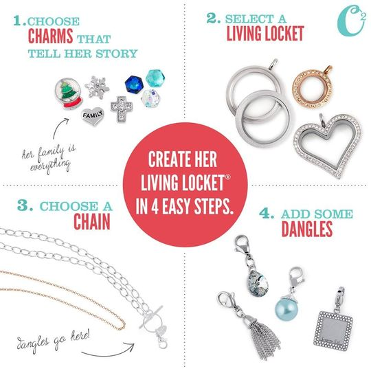 How to design a custom Origami Owl Living Locket.  Create your personalized look today at...
