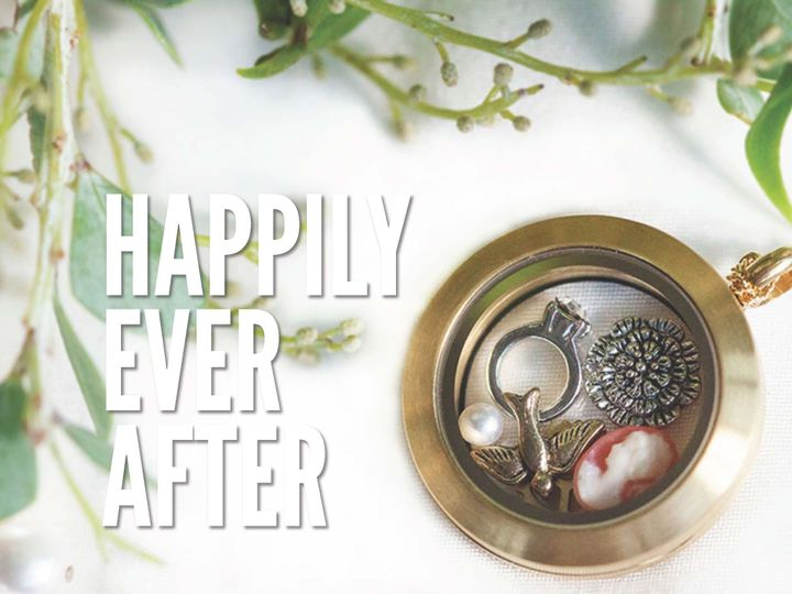 """Tell the story of your """"happily ever after"""" with customized bridal locket necklaces and bracelets!..."""