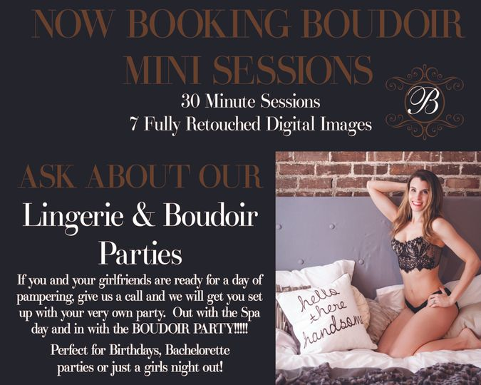 boudoir mini sessions and boudoir parties
