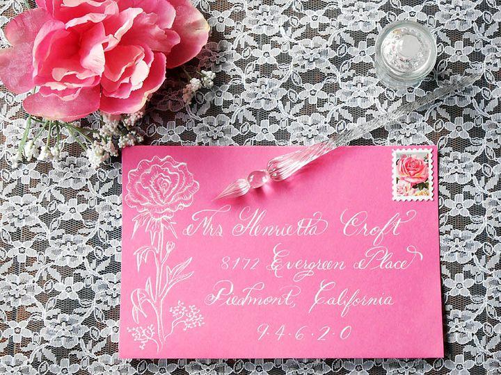 Tmx 1490897350027 Envelope Pink Peony Calligraphy Catskill, New York wedding invitation