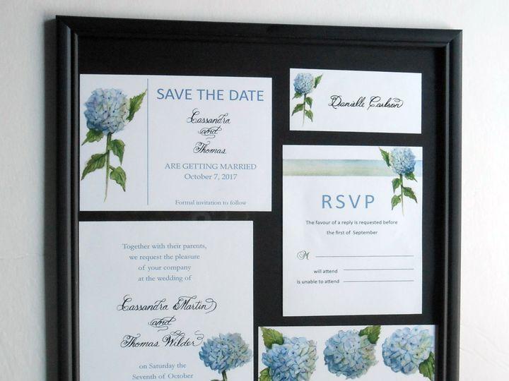 Tmx Hydrangea Calligraphy Invitations Logo 51 969532 Catskill, New York wedding invitation