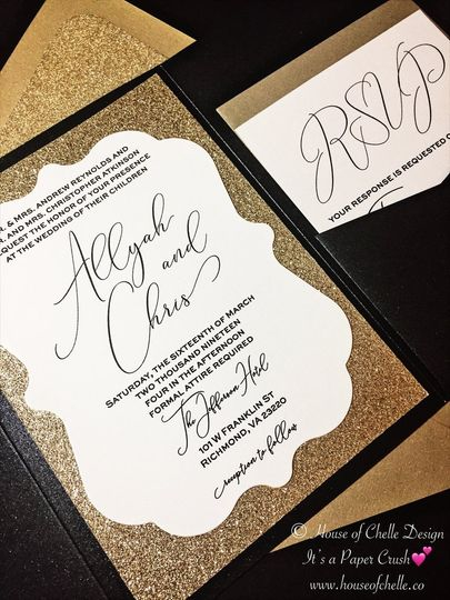 Glitter Wedding Invitation