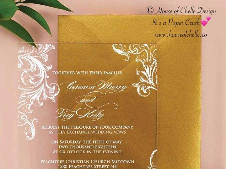 Tmx Acrylic Invitation Carmen 51 430632 Arlington, District Of Columbia wedding invitation