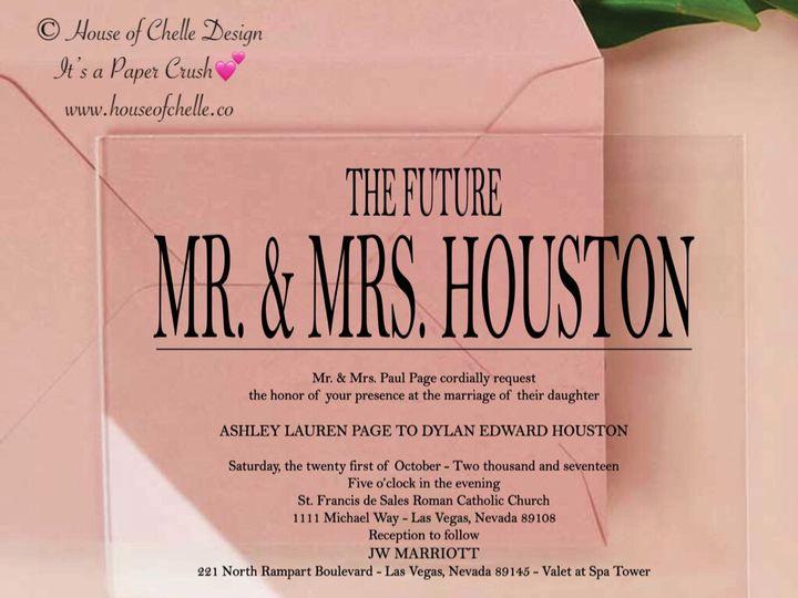 Tmx Acrylic Invitation Houston 51 430632 Arlington, District Of Columbia wedding invitation
