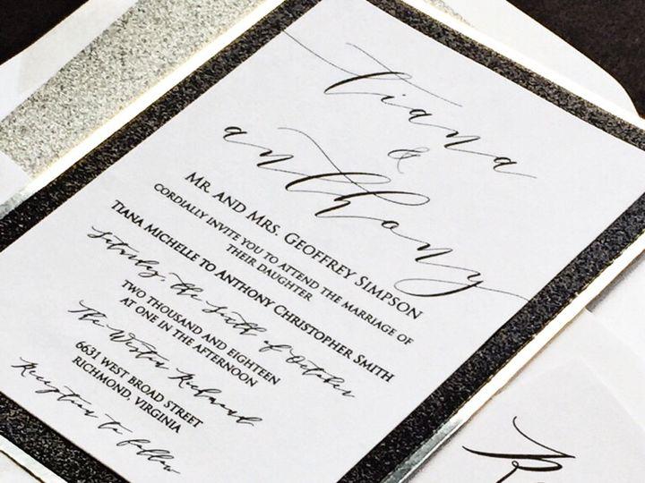 Tmx Black And Silver Glitter Wedding Invitation Full 51 430632 Arlington, District Of Columbia wedding invitation