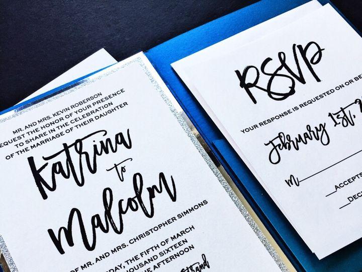 Tmx Blue And Silver Glitter Wedding Invitation Pocketfold 3 51 430632 Arlington, District Of Columbia wedding invitation