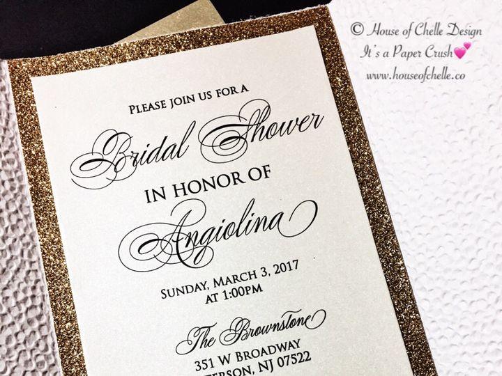 Tmx Blush And Gold Embossed Bridal Shower Invitation 2 51 430632 Arlington, District Of Columbia wedding invitation
