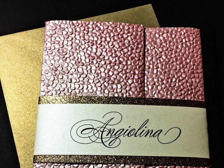 Tmx Blush And Gold Embossed Bridal Shower Invitation 51 430632 Arlington, District Of Columbia wedding invitation