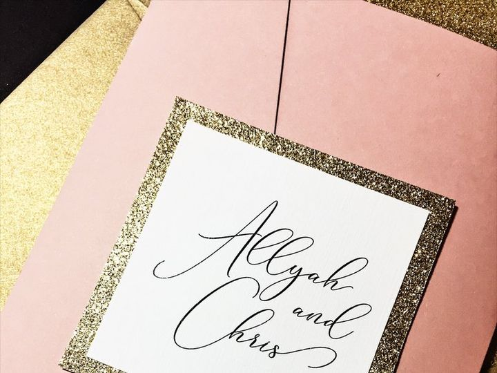 Tmx Blush And Gold Glitter Wedding Invitation Allyah Cip 3 51 430632 Arlington, District Of Columbia wedding invitation