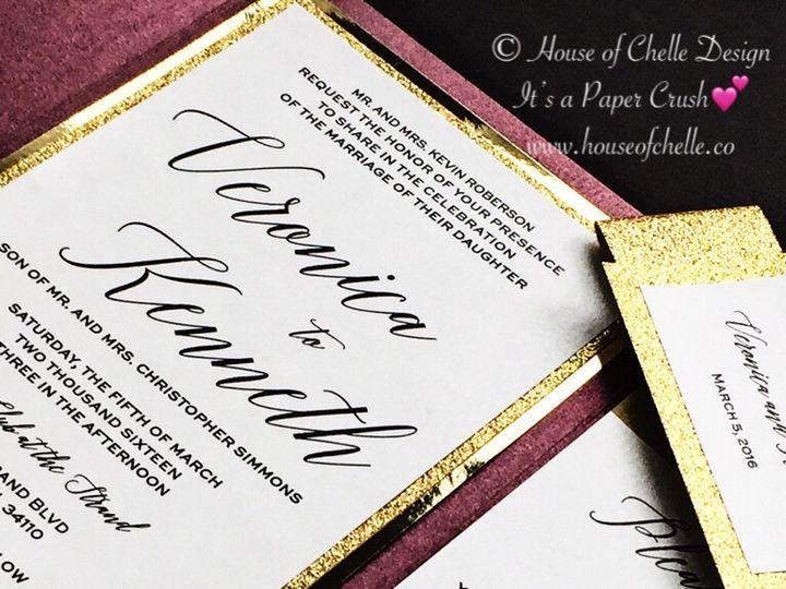 Tmx Burgundy And Gold Wedding Invitation Pocketfold 2 51 430632 Arlington, District Of Columbia wedding invitation