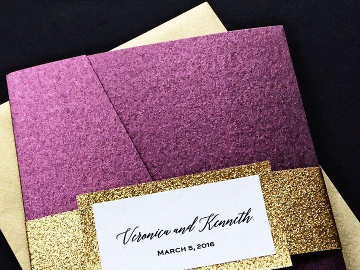 Tmx Burgundy And Gold Wedding Invitation Pocketfold 51 430632 Arlington, District Of Columbia wedding invitation