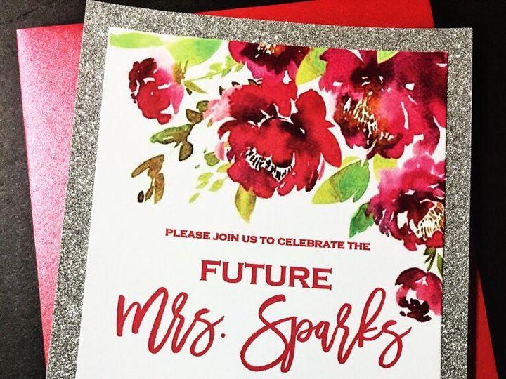 Tmx Glitter Floral Bridal Shower Invitation 1 51 430632 1557946492 Arlington, District Of Columbia wedding invitation