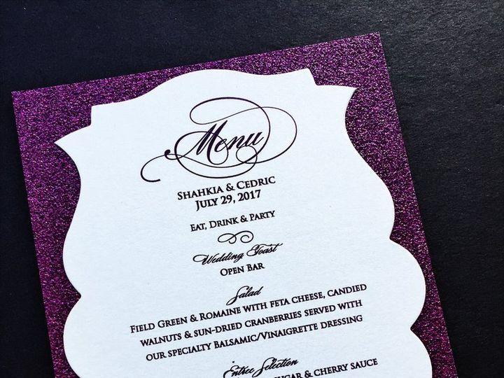 Tmx Glitter Wedding Menu 1 51 430632 Arlington, District Of Columbia wedding invitation