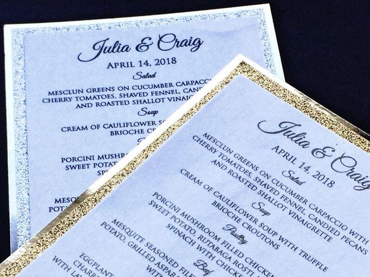 Tmx Glitter Wedding Menu 3 51 430632 Arlington, District Of Columbia wedding invitation