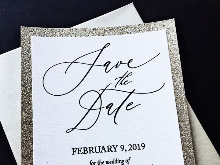 Tmx Glitter Wedding Save The Date Angela 51 430632 Arlington, District Of Columbia wedding invitation